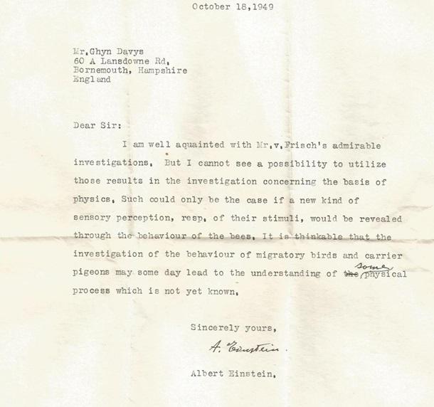 Опубликовано ранее неизвестное письмо Эйнштейна