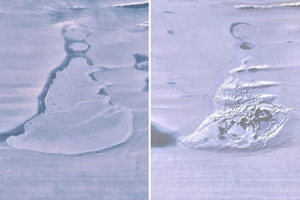 В Антарктиде внезапно исчезло озеро